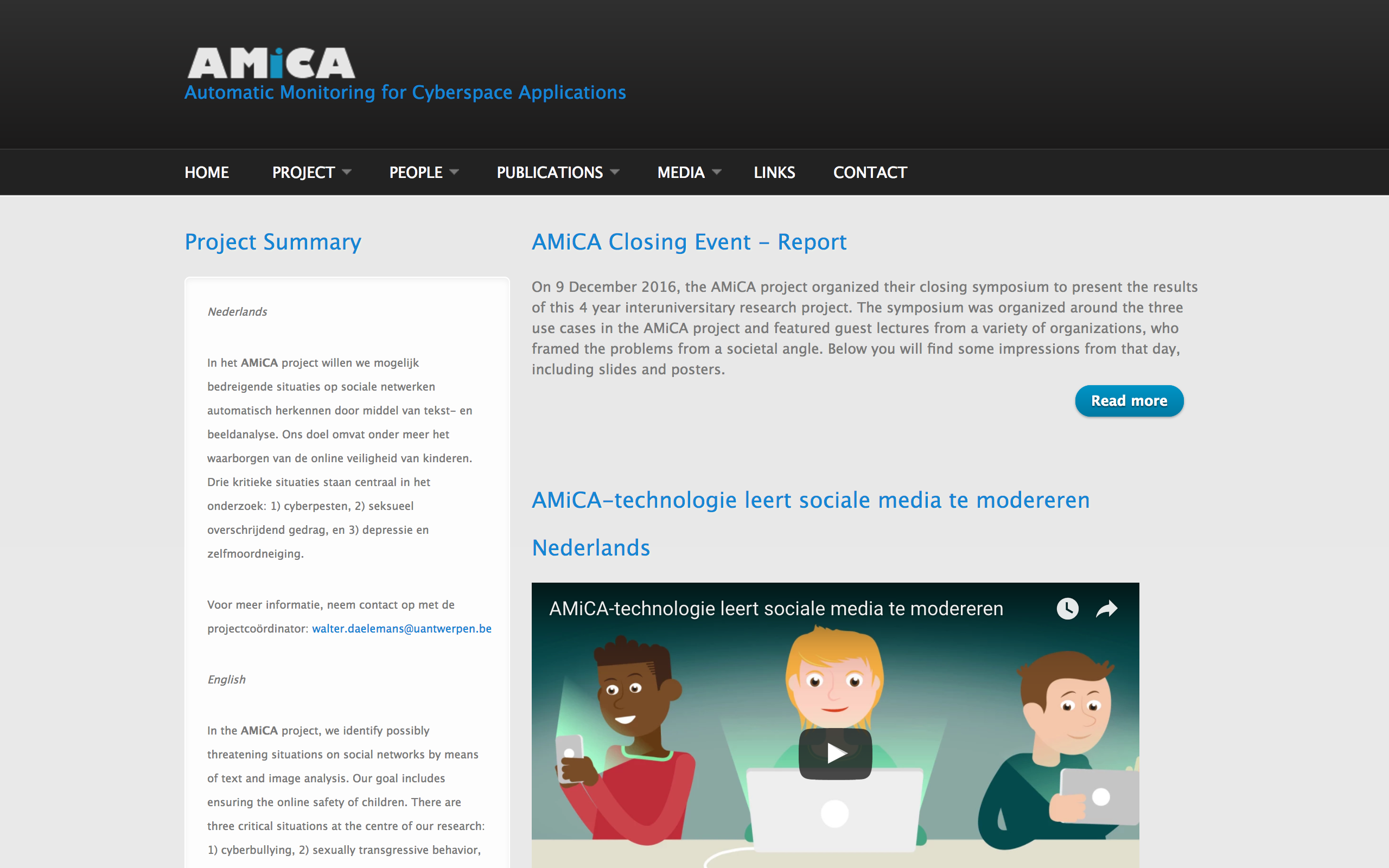 AMiCA: Automatic Monitoring for Cyberspace Applications