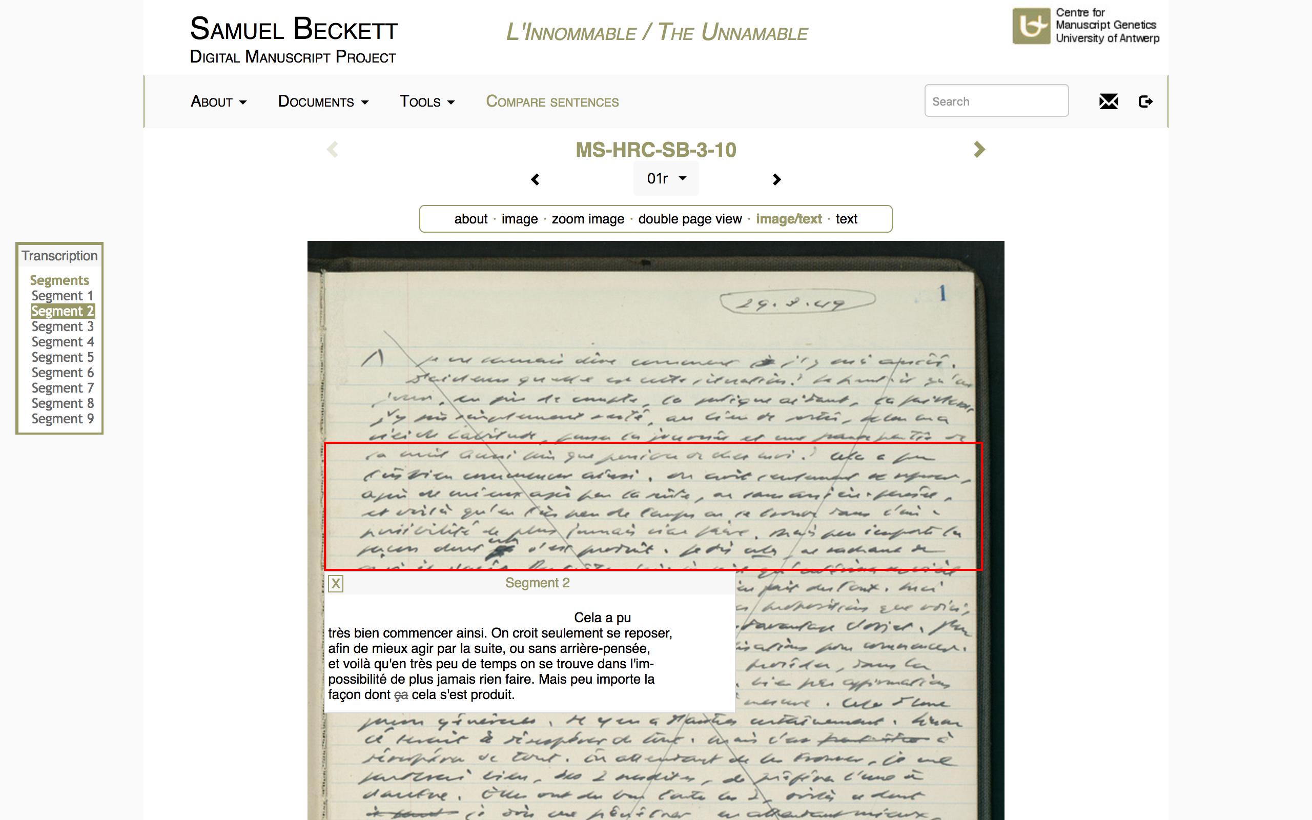 Beckett Digital Manuscript Project