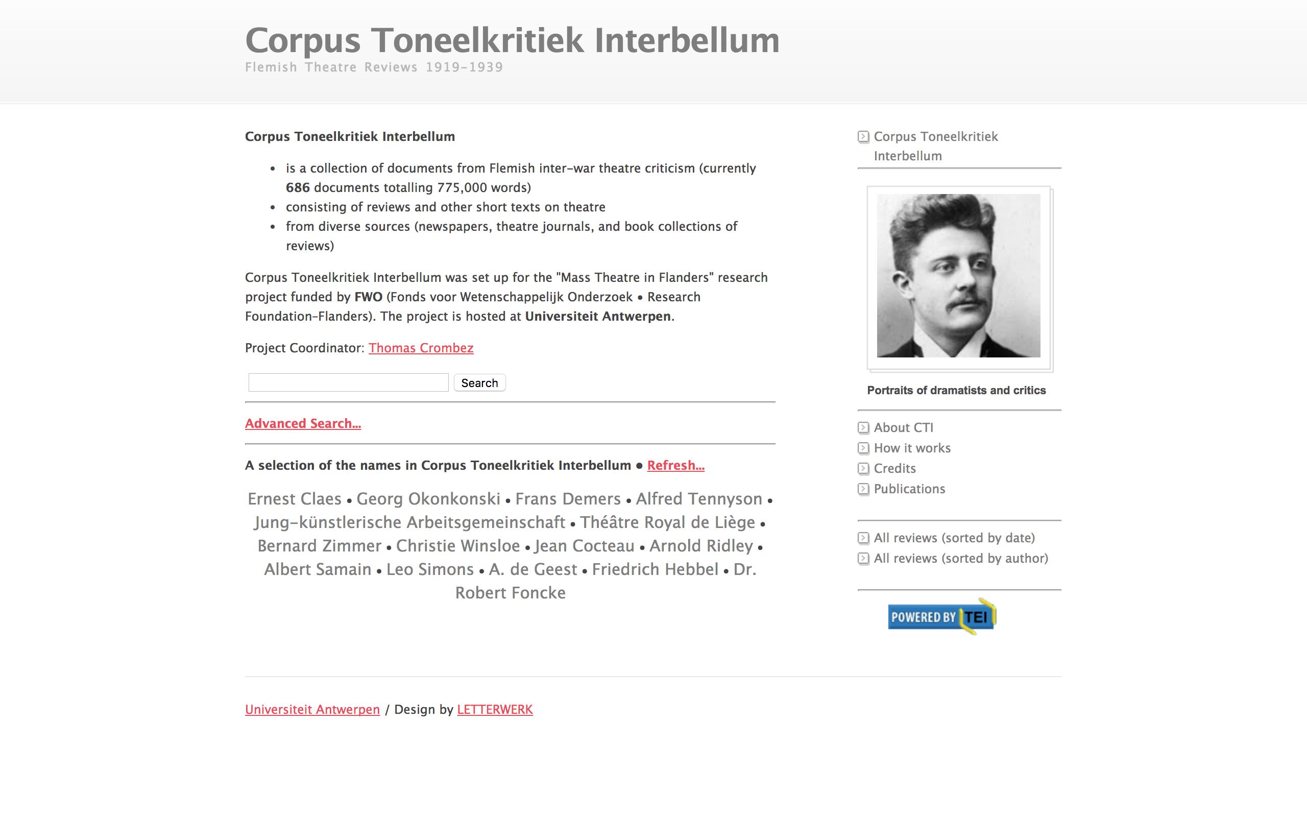 Corpus Toneelkritiek Interbellum