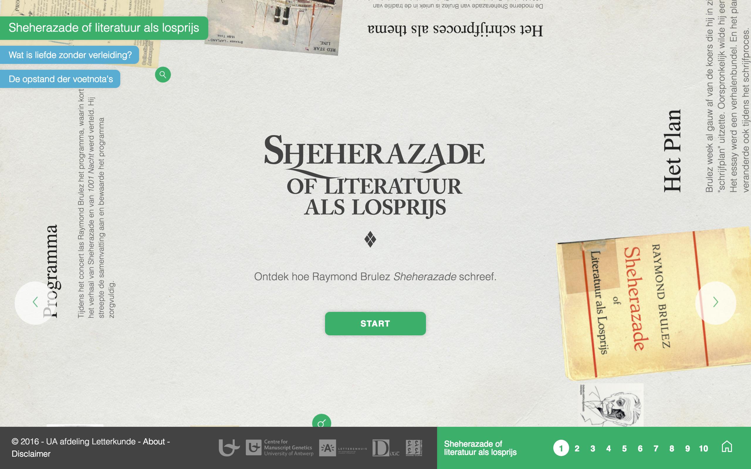 Sheherazade of Literatuur als Losprijs